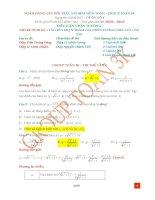 Đáp án đề thi thử THPTQG môn vật lí group vật lí 4k