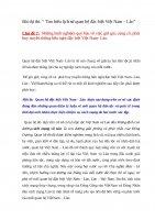"""Bài dự thi: """" Tìm hiểu lịch sử quan hệ đặc biệt Việt Nam – Lào""""  Chủ đề 7:  Những kinh nghiệm quý báu về việc giữ gìn, củng cố, phát huy truyền thống hữu nghị đặc biệt Việt Nam Lào."""