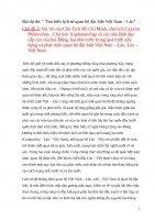 """Bài dự thi: """" Tìm hiểu lịch sử quan hệ đặc biệt Việt Nam – Lào"""" Chủ đề 3: Vai trò của Chủ Tịch Hồ Chí Minh, chủ tịch Cayxỏn Phômvihản , Chủ tịch Xuphanuvông và các nhà lãnh đạo cấp cao của hai Đảng, hai nhà nước trong quá trình xây dựng và phát triển quan"""