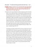 """Bài dự thi: """" Tìm hiểu lịch sử quan hệ đặc biệt Việt Nam – Lào"""" Chủ đề 5: Những kỷ niệm sâu sắc về tình đoàn kết, hữu nghị giữa hai dân tộc Việt Nam lào, Lào Việt Nam trong sự nghiệp đấu tranh giành độc lập dân tộc trước đây cũng như trong công cuộc xây d"""