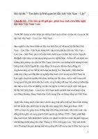 """Bài dự thi: """" Tìm hiểu lịch sử quan hệ đặc biệt Việt Nam – Lào""""  Chủ đề 10:   Cần làm gì để giữ gìn , phát huy tình cảm hữu nghị đặc biệt Việt Nam Lào"""
