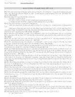 Bài tập tự luận hoá hữu cơ lớp 11 ôn thi thpt quốc gia môn Hoá