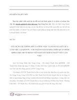 XÂY DỰNG hệ THỐNG mô tả CÔNG VIỆC và ĐÁNH GIÁ kết qủa làm VIỆC tại QTDTW – CHI NHÁNH THANH hóa