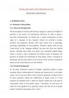 proposal thesis đề cương chi tiết
