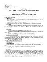 Giáo án tổng hợp   lịch sử 9   mai trọng hữu