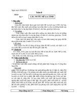 Giáo án tổng hợp  Lịch sử 9    tuần 8