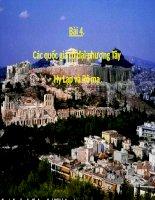 Bài 4. Các quốc gia cổ đại phương Tây - Hi Lạp và Rô-ma