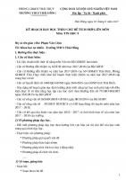 PHÒNG GDĐT THÁI THỤY TRƯỜNG THCS THÁI HỒNG   CỘNG HOÀ XÃ HỘI CHỦ NGHĨA VIỆT NAM           Độc lập  Tự do  Hạnh phúc              Thái Hồng, ngày 18  tháng 8  năm 2017  KẾ HOẠCH DẠY HỌC THEO CHỦ ĐỀ TÍCH HỢP LIÊN MÔN Môn: TIN HỌC 9