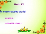 Unit 12. An Overcrowded World. Lesson 2. A closer look 1