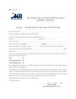 Phụ lục 3 (Đề nghị cấp lại giấy chứng nhận sở hữu cổ phần)