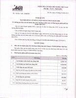 Nghị quyết của ĐHĐCĐ thông qua Báo cáo tài chính năm 2013 đã được kiểm toán và Phương án phân phối lợi nhuận năm 2013