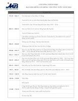 Chương trình họp ĐHĐCĐ thường niên năm 2014