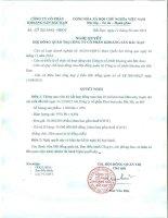 Nghị quyết HĐQT số 28 2015 NQ-HĐQT về việc ký kết hợp đồng mua bán chì kim loại với Công ty CP Kim loại màu Bắc Bộ
