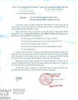 Công văn thay đổi ngày đăng ký cuối cùng hưởng quyền nhận cổ tức và ngày chi trả cổ tức năm 2016