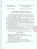 TIENLEN CORPORATION - Tập đoàn Thép Tiến Lên   Quan he co dong   Nghi quyet - Quyet dinh   Nghi quyet HDQT so 03; 04; 05 nam 2017 [] NQ05 HĐQT2017