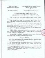 TIENLEN CORPORATION - Tập đoàn Thép Tiến Lên   Quan he co dong   Nghi quyet - Quyet dinh   Nghi quyet HDQT so 03; 04; 05 nam 2017 [] NQ03 HĐQT2017