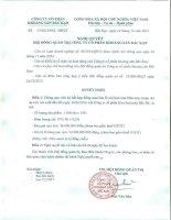 Nghị quyết HĐQT số 34 2015 NQ-HĐQT ngày 28 12 2015 v v ký kết hợp đồng mua bán chì kim loại với Công ty cổ phần KLM Bắc Bộ