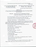 TIENLEN CORPORATION - Tập đoàn Thép Tiến Lên | Quan he co dong | Thong bao | Thong bao thuc hien quyen: Tra co tuc dot 2 nam 2016 (ty le 10% bang co phieu) []