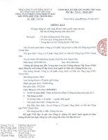 PTSC Thanh Hoa Thong bao ngay dang ky cuoi cung de thuc hien quyen tham du hop DHCD 2017 signed