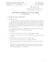 4. Thuyet minh BCTC - Quy III- 2009