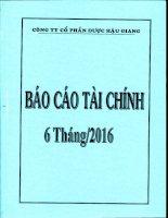 DHG BCTC Quy 2.2016   Me1
