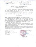 Nghị quyết số 1193 NQ-TMT-HĐQT ngày 24 8 2015 của Hội đồng quản trị nhiệm kỳ 2012 - 2016