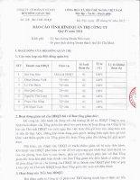 BC tinh hinh quan tri Cty Quy IV 2011 so 24 BC TMT HDQT ngay 18 01 2012
