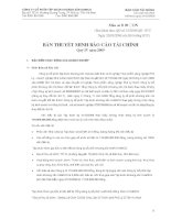 4. Thuyet minh BCTC - Quy IV- 2009