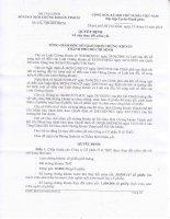 Quyết định số 116 QĐ-SGDHCM về việc thay đổi niêm yết