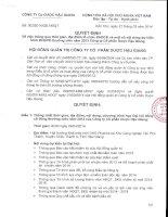 thông qua thời gian, địa điểm tổ chức ĐHĐCĐ và một số nội dung dự kiến trình ĐHĐCĐ thường niên năm 2013 - DHG PHARMA quyet dinh 02 hdqt