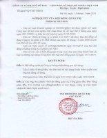 Nghi quyet cua Hoi dong quan tri so 1111 NQ-TMT-HDQT ngày 13 11 2014