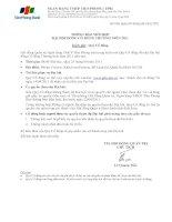 09 04 2011 - Thông báo mời họp Đại hội đồng Cổ đông năm 2011
