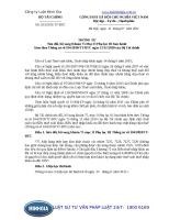 Thông tư 103 2011 TT-BTC Sửa đổi, bổ sung Khoản 75 Mục II Phụ lục III ban hành kèm theo Thông tư số 184 2010 TT-BTC ngày 15 11 2010 của Bộ Tài chính