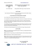 Quyết định 5371 QĐ-UBND năm 2016 Quy chế Quản lý và sử dụng kinh phí khuyến công Thành phố Hồ Chí Minh