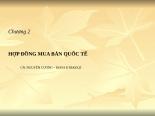 Slide bài giảng Thương mại quốc tế | Tailieuhay Chuong 2