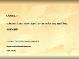 Slide bài giảng Thương mại quốc tế | Tailieuhay Chuong 1