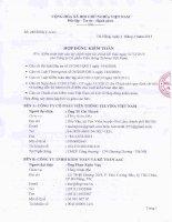 CÔNG BỐ THÔNG TIN VỀ ĐƠN VỊ KIỂM TOÁN BCTC NĂM 2015 HOP DONG KIEM TOAN