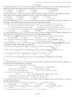 Ngân hàng câu hỏi Trắc nghiệm Tiếng Anh của TP Đà Nẵng - Tự học 247 anh3