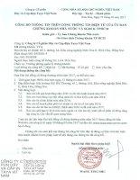 CBTT Thong bao ngay dang ky cuoi cung hop DHCD 2017 Taya signed