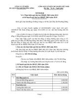 2013 8  To trinh thu lao HDQT BKS nam 2013 va ke hoach 2014