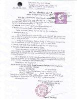 Thông báo mời họp ĐHCĐ thường niên năm 2017