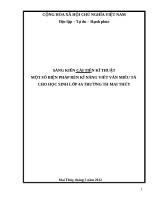 MỘT số BIỆN PHÁP rèn kĩ NĂNG VIẾT văn MIÊU tả CHO học SINH lớp 4