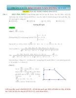Bài toán vận dụng cao  Chủ đề TỌA ĐỘ TRONG KHÔNG GIAN OXYZ  Có lời giải