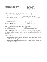 Đề kiểm tra toán 6 chương 1