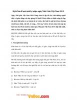 Kịch bản lễ mit-tinh chào mừng ngày nhà giáo Việt Nam 20-11