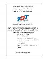 BÁO CÁO THỰC TẬP TỐT NGHIỆP  PHÂN TÍCH QUY TRÌNH GIAO NHẬN HÀNG HÓA XUẤT KHẨU BẰNG ĐƯỜNG BIỂN TẠI CÔNG TY TNHH ASEAN LINES INTERNATIONAL