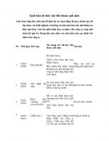 Kịch bản MC dẫn chương trình tổng kết cuối năm