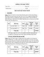 bài test kế toán thuế