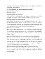 Chương 2 tóm lược một số vấn đề lý luận cơ bản về công nghệ marketing bán lẻ ở công ty kinh doanh thương mại