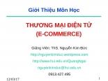WWW.TINHGIAC.COM SLIDE BÀI GIẢNG THƯƠNG MẠI ĐIỆN TỬ E COMMERCE